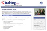 Training.gov website