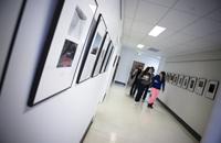 Students in hallway photo